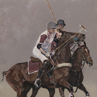 Windsor Polo Oil Painting – Berkshire Art Gallery