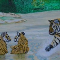 Tiger & Cubs - Horsham Artist - Roger Gasson