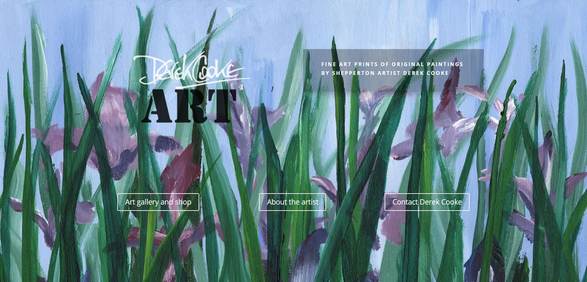 Artist website for Derek Cooke by Sussex Artists