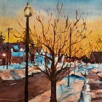 A Winter's Tale – Landscape Painting – Berkshire Artist Kusum Shabong