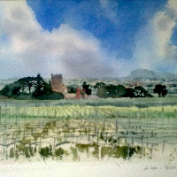 Al Jafar, Paceco, Sicily – Watercolour Painting by Reading Guild of Artists member – Richard Cave