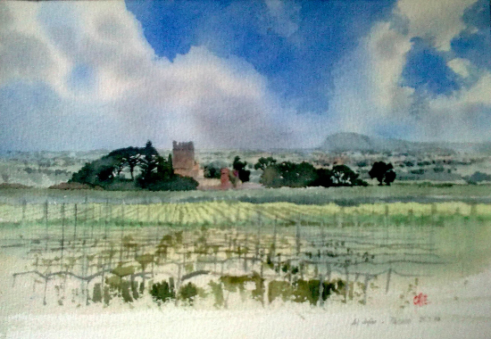 Al Jafar, Paceco, Sicily - Watercolour Painting by Reading Guild of Artists member - Richard Cave