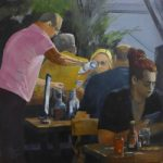 Another Bottle – Restaurant scene Painting by North Hampshire Open Studios member David Cotton