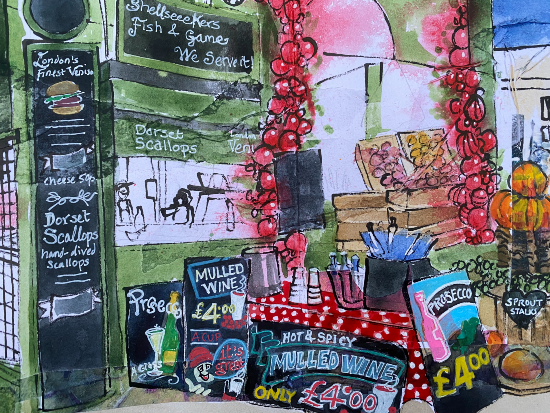 Borough Market, London by Reading Berkshire Artist Therese Lawlor