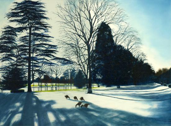 Caversham Court Winter Shadows - Landscape Artist Michael Norcross