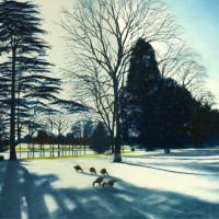 Caversham Court Winter Shadows – Landscape Artist Michael Norcross