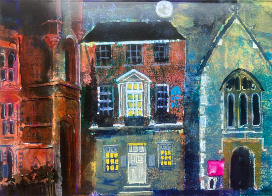 Friar Street, Reading - Painting of Blandy and Blandy Solicitors - Berkshire Artist Thérèse Lawlor
