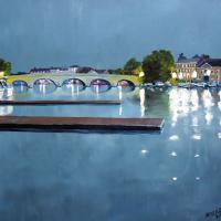 Henley Bridge River Thames Chertsey Artist Doug Myers