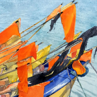 Markers - Marine Art - Reading Guild of Artists and The Royal Society of Marine Artists member - Richard Cave