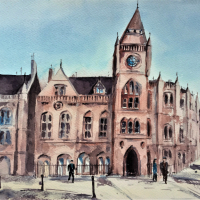 Reading Town Hall – Clock Tower – Berkshire Art Gallery – Kusum Shabong