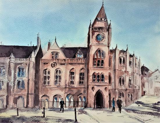 Reading Town Hall - Clock Tower - Berkshire Art Gallery - Kusum Shabong
