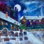 St Laurence's Churchyard Reading – Framed Mixed Media Art – Berkshire Artist Therese Lawlor