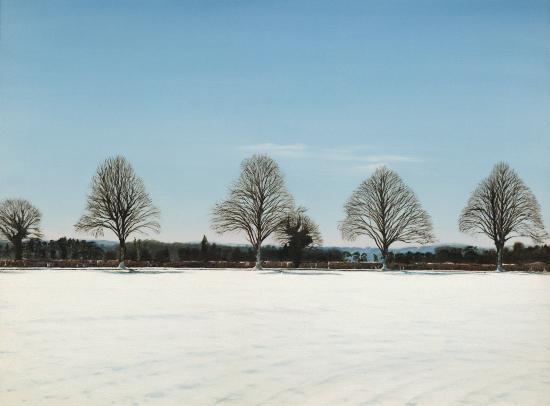 Winter - The Road to Ashampstead near Reading Berkshire - Michael Norcross