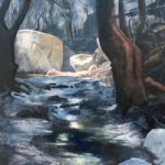 Woodland and Stream – The Butterfly Valley – Reading Guild of Artists – David Cotton –