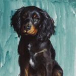 Pet Portraits – Cocker Spaniel Puppy – Shurlock Row, Berkshire Fine Artist Catherine Ingleby