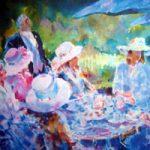 Ascot Berkshire Races – Tea Party – Painting and Art Prints