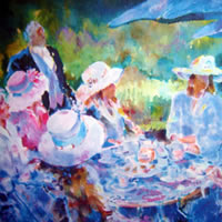 Ascot Berkshire Races – Tea Party – Painting and Art Prints