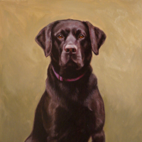 Pet Portrait Black Labrador, Hannibal – Shurlock Row Artist Catherine Ingleby