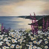 Coastal Cliff Walk Seascape – Maidenhead Artist Maria Meerstadt
