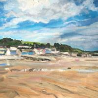 Amroth Beach Pembrokeshire – Coastal Scene – Cookham Artist Karen Davies
