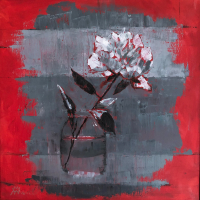 Cookham Arts Club member Wendy Mercer - Peony in Vase Still Life - Berkshire Artists Gallery