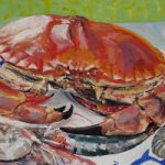 Crab and Shrimps – Oil Painting and Giclée Prints by Coastal Artist Karen Davies