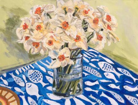 Daffodils - Spring Still Life - Maidenhead Artist Karen Davies