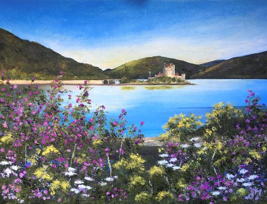 Eilan Donan, Scotland - Island in Loch Duich - Cookham Arts Club - Maria Meerstadt