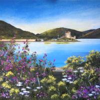 Eilan Donan, Scotland – Island in Loch Duich – Cookham Arts Club – Maria Meerstadt