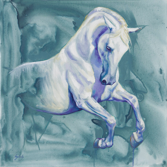 Horse - Equine Art by Society of Equestrian Artists Catherine Ingleby - Bellephron