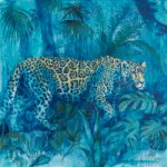 Leopard – The Night Prowler – Wildlife Painting – Shurlock Row, Berkshire Artist Catherine Ingleby