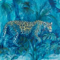 Leopard – The Night Prowler – Wildlife Painting – Shurlock Row, Berkshire Artist Catherine Ingleby