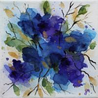 Meconopsis Blue Poppy – Watercolour – Henley Arts Trail Artist Maria Meerstadt