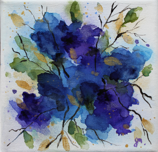 Meconopsis Blue Poppy - Watercolour - Henley Arts Trail Artist Maria Meerstadt
