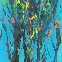 Modern Art – Blue – Striking Artwork by Cookham Arts Club member Wendy Mercer