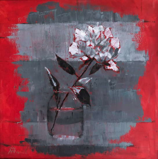 Peony in Vase Still Life - Berkshire Artists Gallery - Wendy Mercer