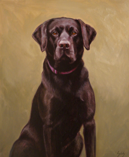 Pet Portrait Black Labrador, Hannibal - Shurlock Row Artist Catherine Ingleby