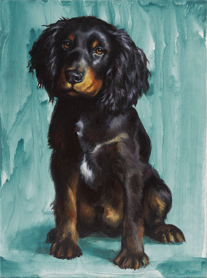 Pet Portraits - Cocker Spaniel Puppy - Shurlock Row, Berkshire Fine Artist Catherine Ingleby