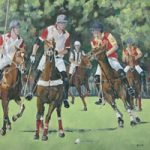Berkshire Art Gallery – Polo Match Smiths Lawn Windsor – Oil Painting