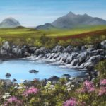 Sligachan, Isle of Skye, Scotland – Oil Painting by Cookham Arts Club Artist Maria Meerstadt
