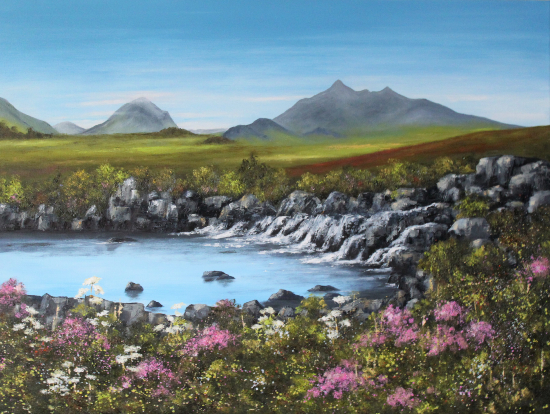 Sligachan, Isle of Skye, Scotland - Oil Painting by Cookham Arts Club Artist Maria Meerstadt