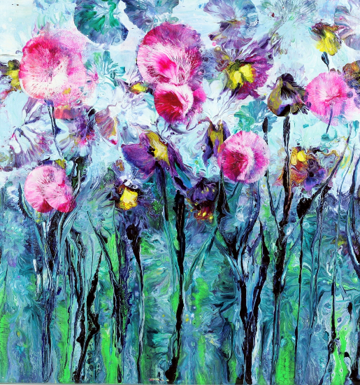 SweetPea - Flowers - Berkshire Artists Gallery - Wendy Mercer