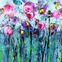 SweetPea – Flowers – Berkshire Artists Gallery – Wendy Mercer