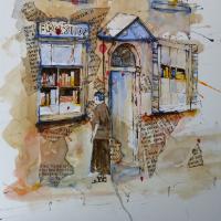 The Bookshop – Reading Guild of Artists member Mohan Banerji – Berkshire Art Gallery