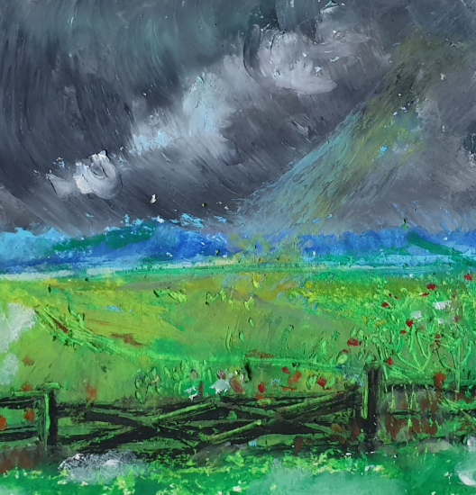 Thunderclouds - Painting by Finchampstead Artist Mohan Banerji