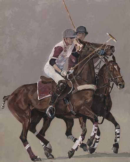 Windsor Polo Oil Painting - Berkshire Art Gallery