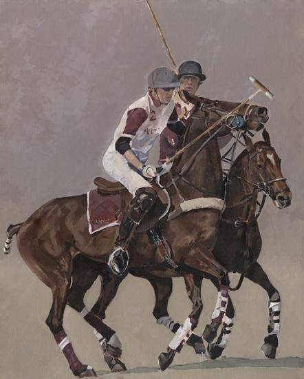 Windsor Polo Oil Painting - Berkshire Art Gallery