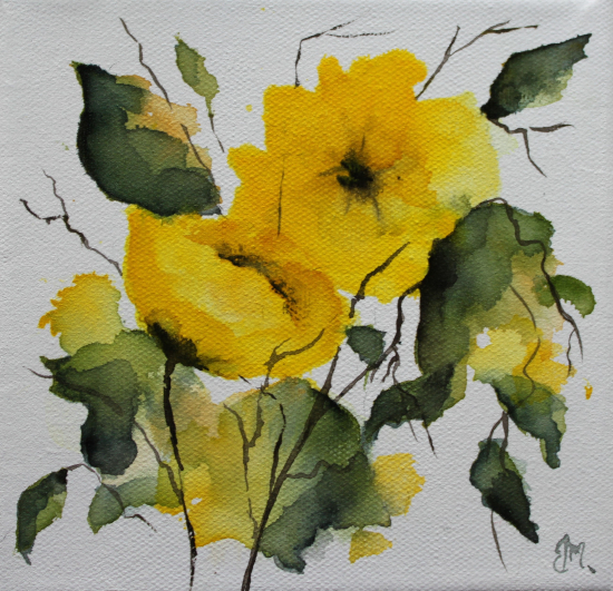 Yellow Rose Watercolour - Maidenhead Artist Maria Meerstadt