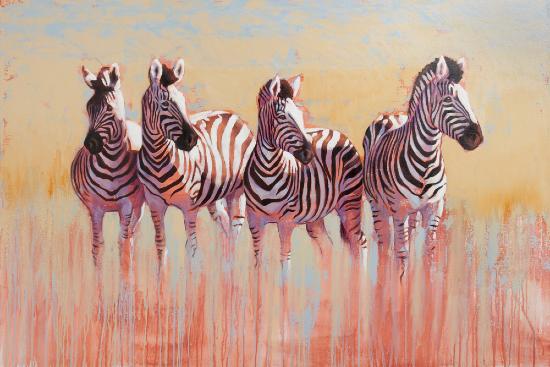 Zebras - Kwandwe Quartet - Shurlock Row Berkshire Artist Catherine Ingleby