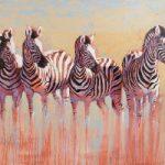 Zebras – Kwandwe Quartet – Shurlock Row Berkshire Artist Catherine Ingleby